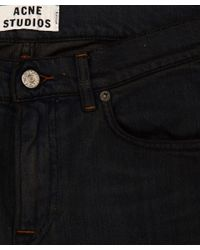 Acne Studios Black Dark Grey Ace Coal Slimfit Denim Jeans L32 for men