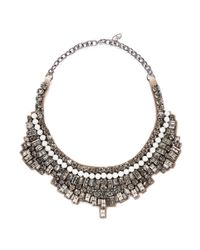 Valentino | Metallic Crystal And Opal Stone Satin Backing Choker | Lyst