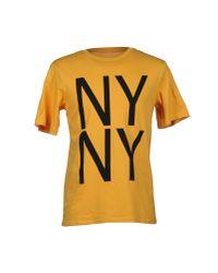 Saturdays NYC Yellow T-shirt for men