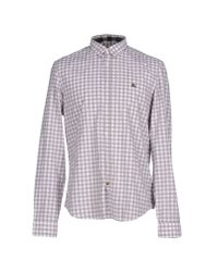 Burberry Brit - Gray Shirt for Men - Lyst