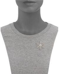 R.j. Graziano | Metallic Pave Snowflake Pin | Lyst