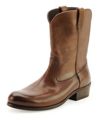 Tom Ford - Brown Christopher Leather Cowboy Boot for Men - Lyst