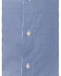 Armani Jeans - Blue Fine Check Shirt for Men - Lyst