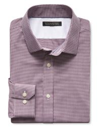 Banana Republic | Purple Tailored Slim-fit Non-iron Micro-gingham Shirt for Men | Lyst