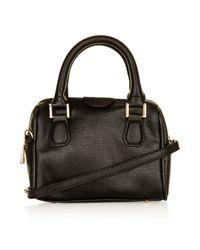 TOPSHOP - Black Mini Double Handle Bag - Lyst