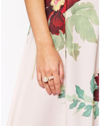 ASOS | Metallic Faux Pearl Pop Ring | Lyst