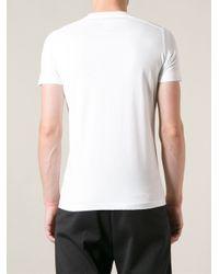 DSquared² White Insane Asylum Tshirt for men