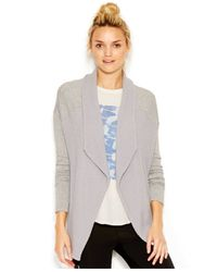 Lucky Brand Gray Lucky Lotus By Lucky Brand Contrast Cardigan