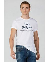 True Religion | White Mens T-shirt for Men | Lyst