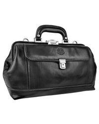 Chiarugi - Black Genuine Italian Leather Doctor Bag for Men - Lyst