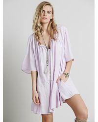 Free People - Purple Nara Dress - Lyst