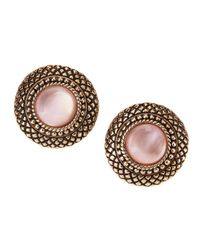 Stephen Dweck | Natural Quartz & Pink Mother-of-pearl Button Earrings | Lyst