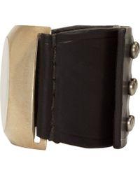 Rick Owens - Black Bone Inlay Bracelet for Men - Lyst