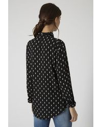 TOPSHOP Black Tall Double Diamond Shirt