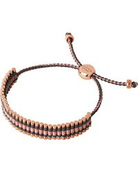 Links of London - Pink 18ct Rose Gold-plated Friendship Bracelet - For Women - Lyst