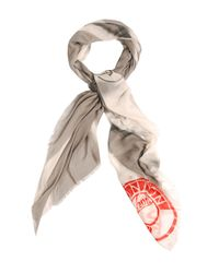 Amanda Wakeley | Gray Union Jack Scarf | Lyst