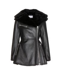 Acne Studios Black Muse Leather And Shearling Jacket