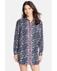 Lucky Brand | Blue Woven Sleep Shirt | Lyst