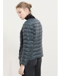 Violeta by Mango - Green Quilted Coat - Lyst