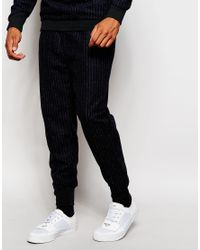 2 X H Brothers - Blue 2x H Brothers Skinny Wool Mix Joggers In Pinstripe for Men - Lyst