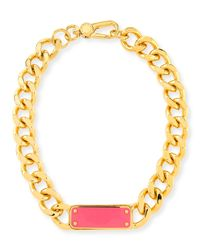 Marc By Marc Jacobs | Metallic Id Plaque Chain Necklace | Lyst