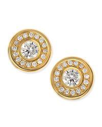 Roberto Coin | 18-karat Yellow Gold Diamond Stud Earrings | Lyst