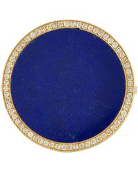 Jennifer Meyer | Blue Inlaid Round Ring | Lyst