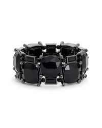 Lauren by Ralph Lauren | Black 'jet' Jewel Stretch Bracelet | Lyst