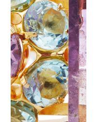 Bounkit | Multicolor Amethyst And Sky Blue Quartz Cuff | Lyst