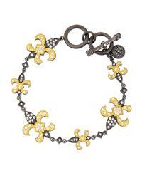 Freida Rothman | Multicolor Fleur De Lis Bracelet | Lyst