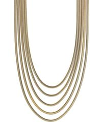 Vince Camuto | Metallic 'opposites Attract' Snake Chain Necklace | Lyst