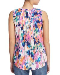 NYDJ   Multicolor Sleeveless Pocket Blouse   Lyst