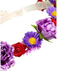 ASOS Purple Crochet Flower Headband