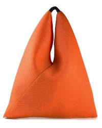 MM6 by Maison Martin Margiela | Orange Perforated Cotton Bucket Tote | Lyst