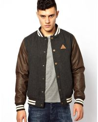 Rock Revival | Gray Tweed Bomber Jacket for Men | Lyst