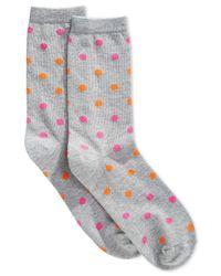 Hot Sox | Gray Women's Dot Trouser Socks | Lyst