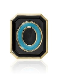 House of Harlow 1960 | Blue Enameled Art Deco Ring | Lyst