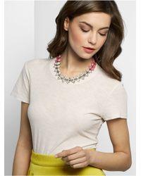 BaubleBar Pink Howlite Botanica Collar