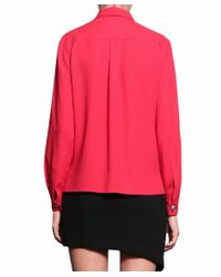 Versus - Red Viscose Shirt - Lyst