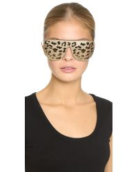 Matthew Williamson | Metallic Leopard Clip-On Mirrored Sunglasses | Lyst
