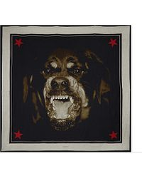 Givenchy - Multicolor Rottweiler Cotton Scarf for Men - Lyst