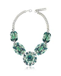 Philipp Plein - Metallic The Casino Princess Green Women'S Necklace - Lyst