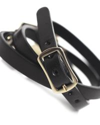 McQ | Black Triple Wrap Razor Bracelet | Lyst