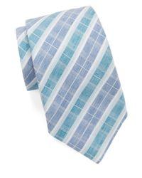 Vince Camuto Blue Plaid Tie for men