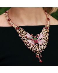 Wendy Yue | Pink Butterfly Necklace | Lyst