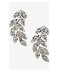 Express | Metallic Pave Vine Post Earrings | Lyst