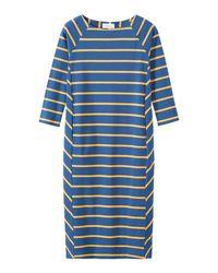 Toast | Blue Interlock Cotton Wide Stripe Dress | Lyst