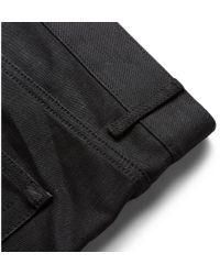 Saint Laurent | Black Slim-Fit 15.5Cm Raw-Hem Denim Jeans for Men | Lyst