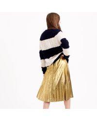 J.Crew | Pleated Midi Skirt In Metallic | Lyst