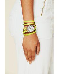 Sara Designs | Yellow Neon Watch Bracelet | Lyst